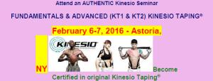 KINESIO TAPING FEBRUARY 2016