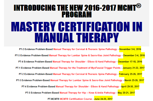 Introducing the new 2016-2017 MCMT Program
